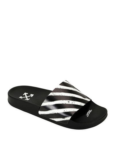 Men's Pool Slide Spray Sandals