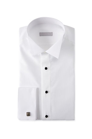 Stefano Ricci Men's Cotton French-Cuff Tuxedo Shirt