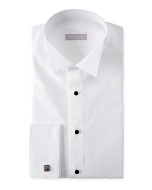 40cd662f970 Stefano Ricci Men s Cotton French-Cuff Tuxedo Shirt