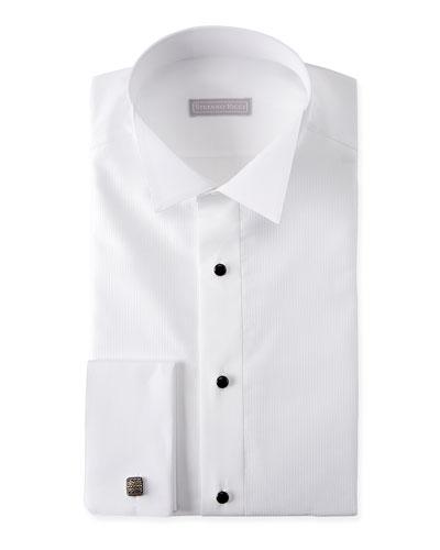 Men's Cotton French-Cuff Tuxedo Shirt