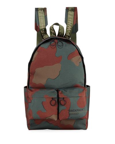 Men's Camo Nylon Backpack