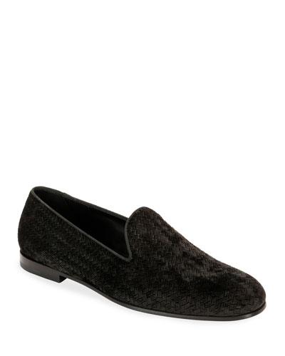 Men's Woven Velvet Formal Loafer