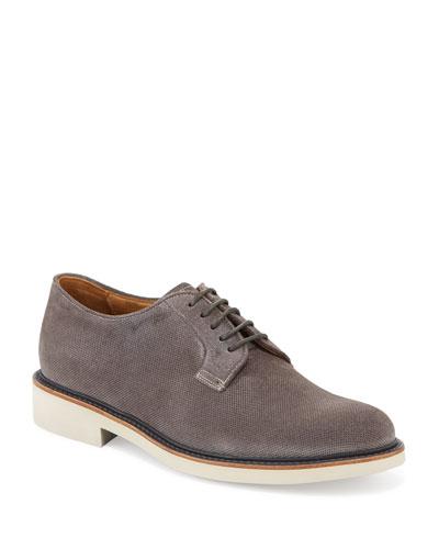 Men's Suede Low-Top Chukka Boots  Dark Gray