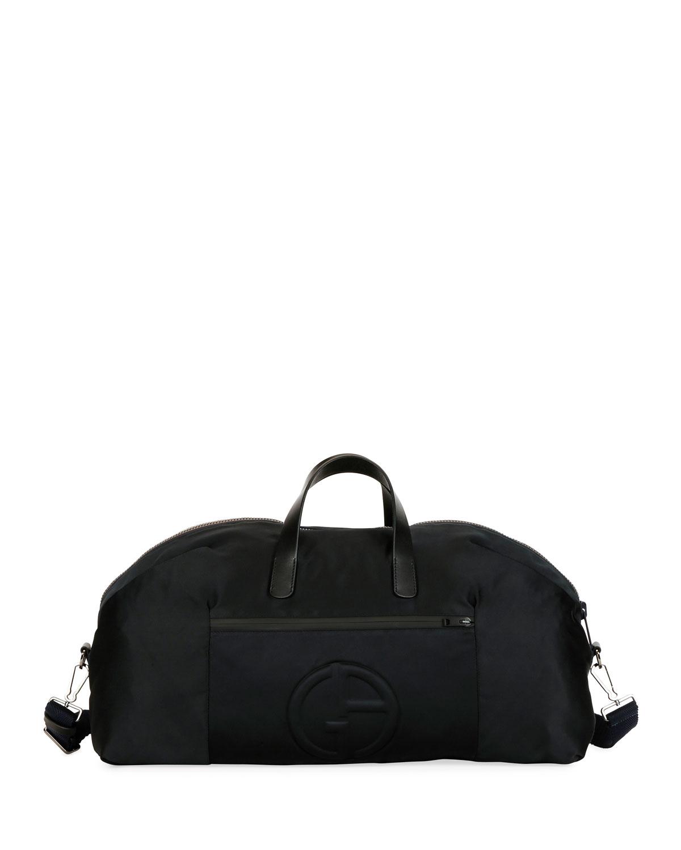 b86181919414 Giorgio Armani Men s Nylon Carryall Duffel Bag