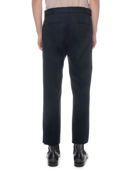 Berluti Men's Cotton Twill Straight-Leg Trousers