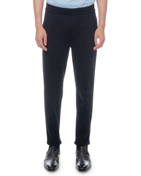 Berluti Knits MEN'S SOLID-KNIT JOGGER PANTS