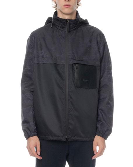 Berluti Men's Scritto Wind-Resistant Zip-Front Jacket