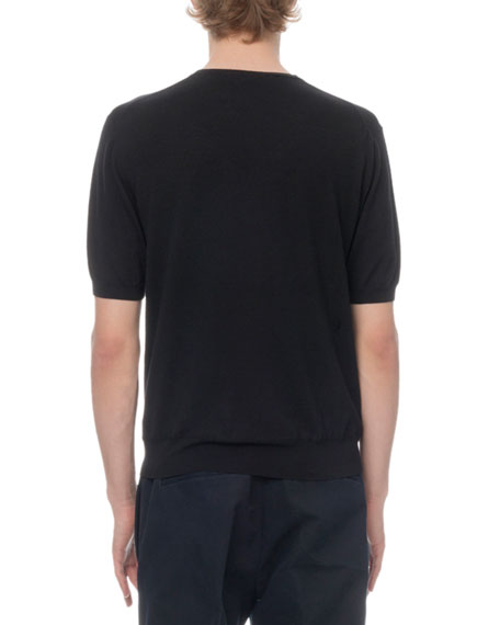 Berluti Men's Wool Short-Sleeve Knit T-Shirt
