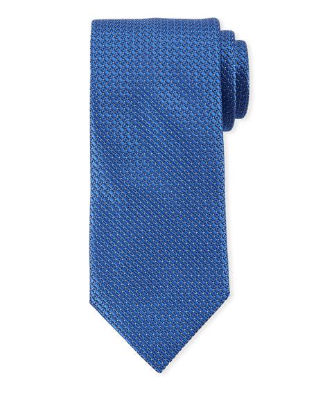 Canali Men's Tonal Geometric Tie, Blue