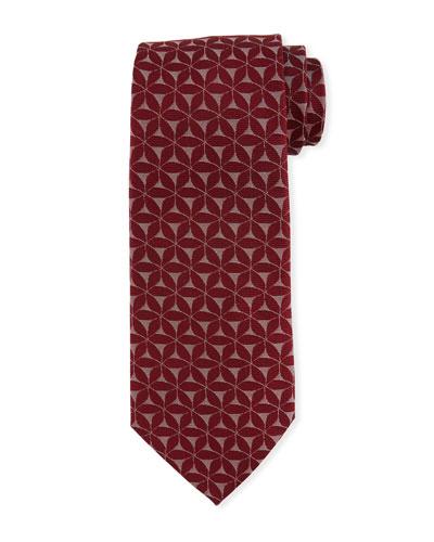 3D Floral Silk Tie