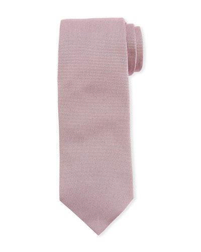 Neat Textured Silk Tie