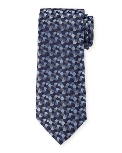 Men's Tonal Woven Jacquard Tie