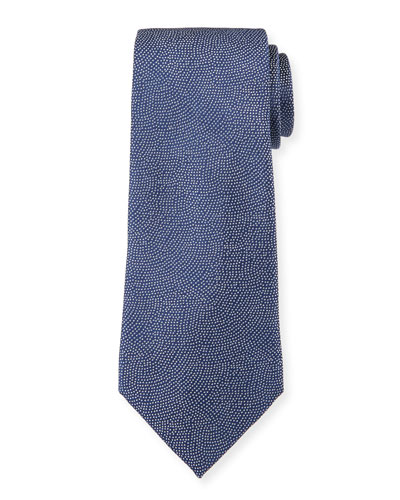 Men's Small-Dot Woven Jacquard Tie  Royal