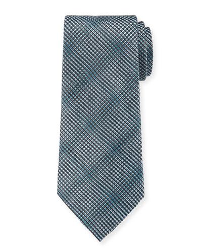 Men's Textured Woven Jacquard Tie