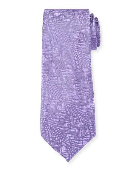 Giorgio Armani Men's Small-Dot Woven Jacquard Tie, Amethyst