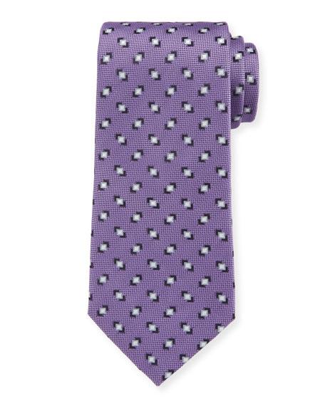 Giorgio Armani Men's Silk Printed Woven Jacquard Tie