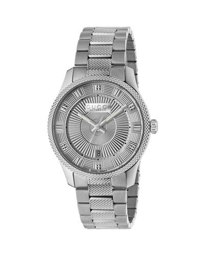 Men's Automatic Stainless Steel Bracelet Watch