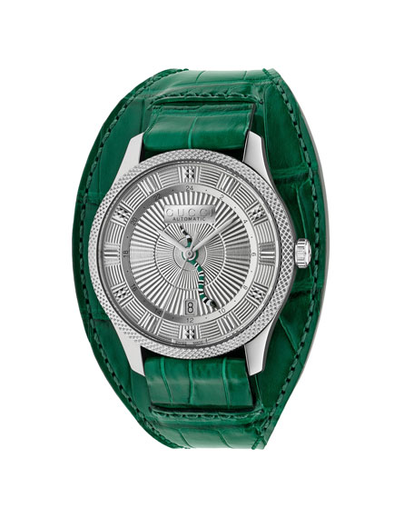 Gucci Men's Automatic King Snake Watch w/ Oversized