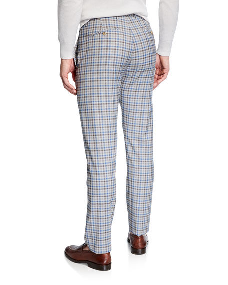 Zanella Men's Lightweight Tattersall Check Pants