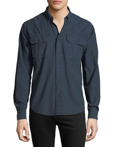 Men's Chambray Long-Sleeve Sport Shirt