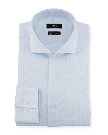 BOSS Men's Slim Fit Travel Dress Shirt