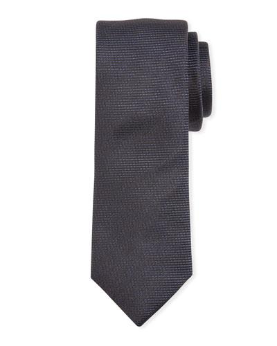 Narrow Tonal Stripes Silk Tie