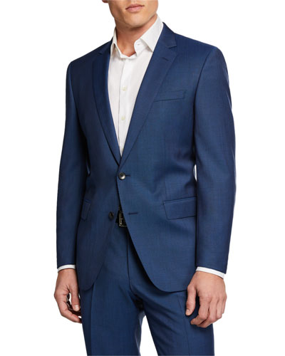 Men's Stretch-Tailoring Wool Two-Piece Suit
