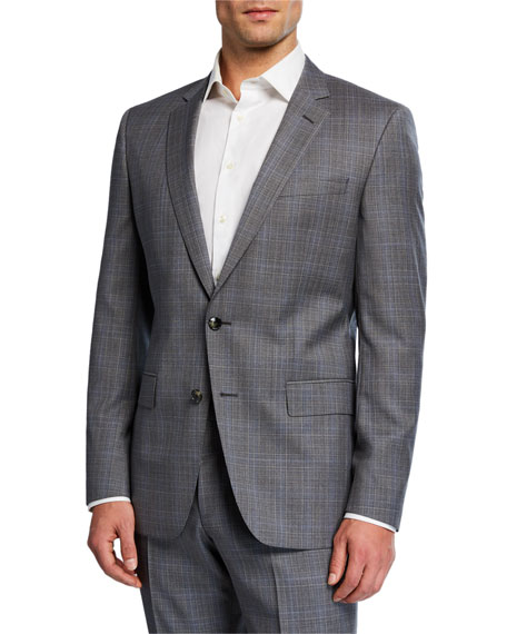 BOSS Men's Plaid Two-Piece Suit