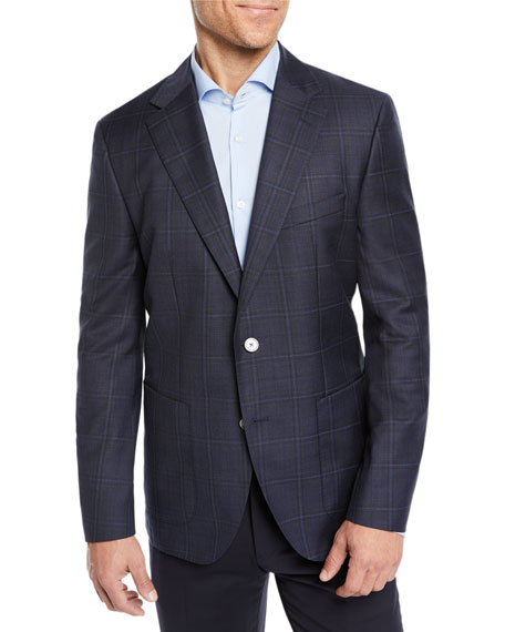 BOSS Men's Windowpane Blazer Jacket