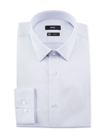 BOSS Men's Travel Cotton Dress Shirt