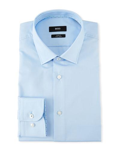 Men's Contrast-Facing Cotton Dress Shirt