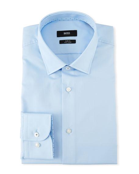 BOSS Men's Contrast-Facing Cotton Dress Shirt