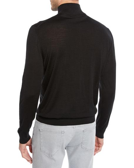 Ermenegildo Zegna Men's Mock-Neck Quarter-Zip Sweater