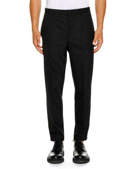 Neil Barrett Men's Tuxedo Satin Fringe Stripe Pants
