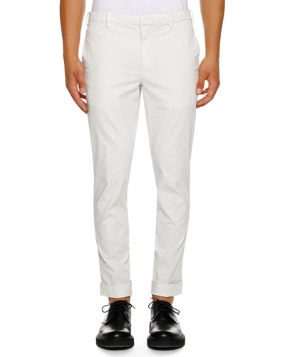 Men's Straight-Fit Cuffed Trousers