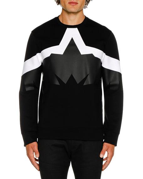Neil Barrett Men's Framis Golden Eagle Graphic Sweater