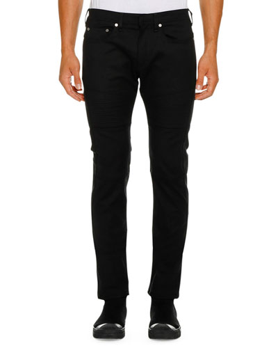 Men's Ergodynamic Straight-Fit Biker Jeans