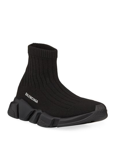 Men's Speed Stretch-Knit Sock Sneakers  Black