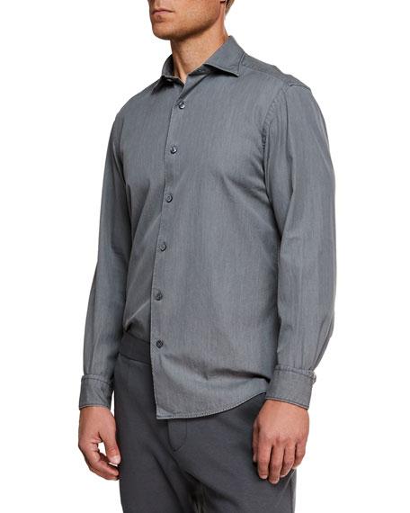 Ermenegildo Zegna Men's Denim Sport Shirt