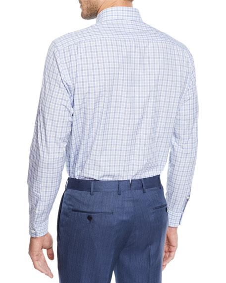Ermenegildo Zegna Men's Vichy Check Cotton Sport Shirt