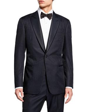 5d83f932bf4 Giorgio Armani Men s Solid Watermark Dinner Jacket