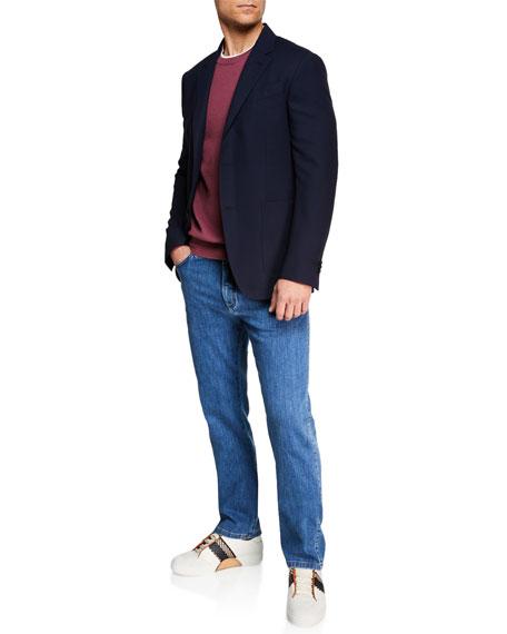 Men's Straight-Leg Stretch-Denim Jeans