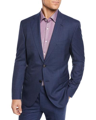 Men's Two-Piece Berry Window Suit