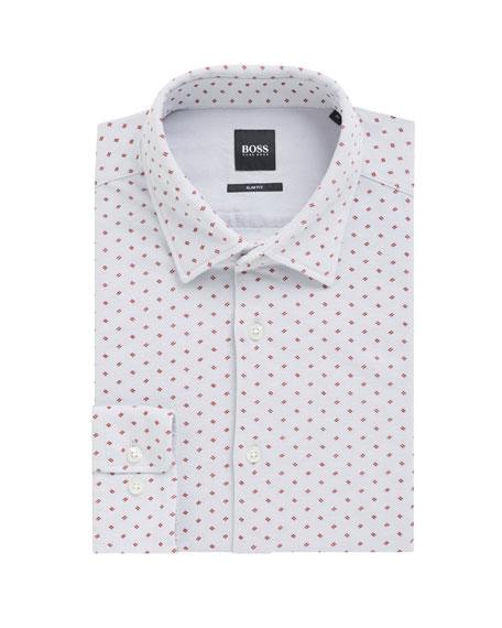 BOSS Men's Ronni Slim Fit Cotton Dress Shirt