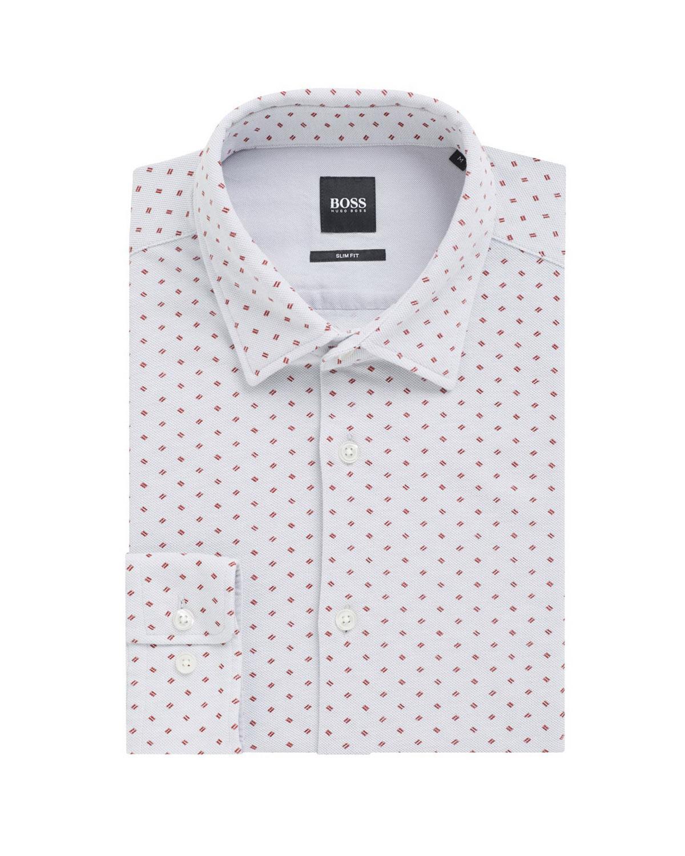 05ae34ff73f BOSSMen s Ronni Slim Fit Cotton Dress Shirt. Dobby Cotton Shirt