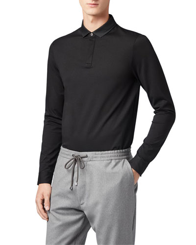 Men's Putney Long-Sleeve Polo Shirt