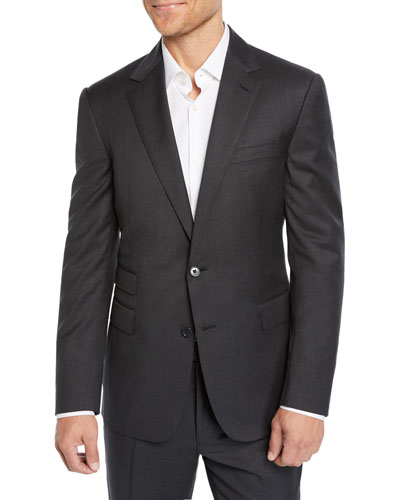 Men's Two-Piece Basic Wool Suit
