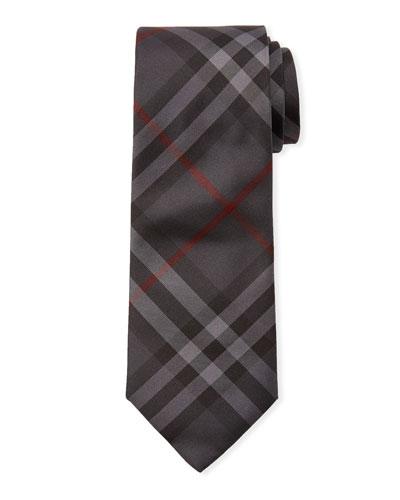 Manston Modern-Cut Check Silk Tie
