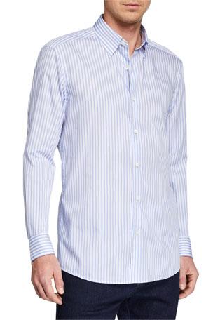 Ermenegildo Zegna Men's Striped Regular-Fit Sport Shirt