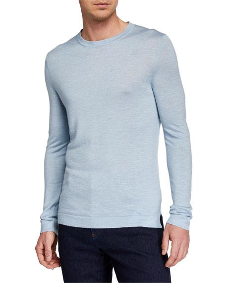 Ermenegildo Zegna Men's Cashmere-Blend Crewneck Sweater, Blue